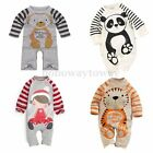 Newborn Kids Baby Boy Girl Warm Infant Romper Jumpsuit Bodysuit Clothes Outfit