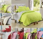 Grid Bedding Doona/Duvet Cover Set Or Flat Sheet Single Double Size