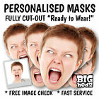 PERSONALISED PHOTO FACE MASKS ON STICKS x1,2,3,4,5 Party Stag Do Hen Night Sash