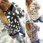 Ladies Winter Jumper Long Sleeve Pullover Tops Fleece Sweater Coats Hoodie LXJ