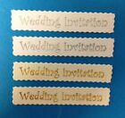 25 SILVER OR GOLD WEDDING INVITATION BANNER CARD MAKING CRAFT EMBELLISHMENTS