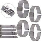 Straight End Stainless Steel Mesh Watch Band Strap Bracelet Silver 16/18/20/22mm