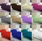 New 68 Pick Plain Dyed Duvet Quilt Cover Pillow Case Bedding Set Super King Size