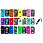 DELUXE COLOR BLACK CASE FOR IPOD TOUCH 4 4G 4TH GEN+PROTECTOR+STYLUS PLUG