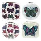 Compact Mirror Chouko Butterfly Metal Green Purple Compact Mirrors