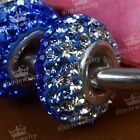 European Big Hole Rhinestone Silver Plated Spacer Loose Bead Fit Charm Hot Diy