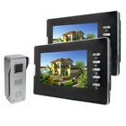 "Wired 7"" Video Camera Doorbell Doorphone Intercom IR Night Vision Monitor"