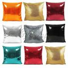 43cmx43cm Solid Color Glitter Sequins Throw Pillow Cushion Cover Pillowcase