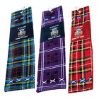 Scottish Golf Towel - Tartan Old Course - Choice Of Tartans - Great Golf Gift!
