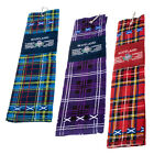 Scottish Golf Towel - Tartan Thistle - Choice Of Tartans - Great Golf Gift!