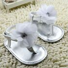 Toddler Baby girl hot white flowers crib shoes sandals size 0-6 6-12 12-18 Month