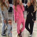 Women 2Pcs Tracksuit Jogging Hoodies Sweatshirt Pants Sets Sport Wear Sweat Suit
