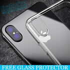 CLEAR Hard Back Silicone TPU Bumper Case Cover For New Apple iPhone 6 6S Plus