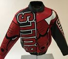 Chicago Bulls Handmade Lambskin & Crocodile Leather Jacket Made In USA JH Design