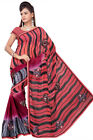Indian Saree Sari Bollywood Designer Embroidered Faux Georgette Multi By Triveni