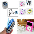 Portable LCD Screen Metal Mini Clip MP3 Player Support Micro TF/SD+ Earphone+USB