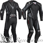 LINDSTRANDS HYPER  1 PIECE MOTORCYCLE RACE RACING LEATHER SUIT BLACK GREY