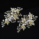 Crystal & Pearl Leaves Bridal Wedding Hair Clip Comb Hairpiece Jewelry Accessory