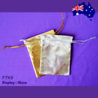 Top Selling 100 Jewellery Gift Pouch Bag-Gold or Silver-7x9cm | AUSSIE Seller