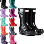 WOMENS HUNTER WELLINGTON BOOTS ORIGINAL SHORT GLOSS SNOW WELLIES LADIES UK 3-8