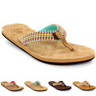 Womens Reef Gypsylove Leather Woven Strap Beach Holiday Flip Flop Sandals UK 3-8