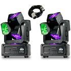 American DJ XS 600 LED Moving Head Disco Lighting Effect (Pair) inc DMX Cable