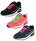 Ladies Airtech 'Legacy' Lace Up Trainers- 2 Colours- Coral/Lime & Navy/Pink!