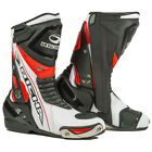 RICHA BLADE WATERPROOF MOTORCYCLE MOTORBIKE SPORTS BIKE BOOTS BLACK WHITE RED