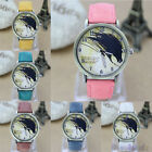 Womens Vintage Retro Bronze Dial Horse Watch Faux Leather Analog Wristwatch