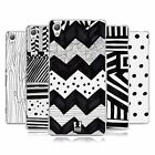 HEAD CASE DESIGNS BLACK AND WHITE DOODLE PATTERNS GEL CASE FOR SONY PHONES 1