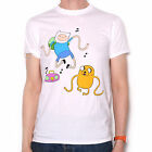 Adventure Time T Shirt - Finn & Jake Dancing White 100% Official Adventure Time
