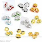 Rhinestone Crystal Big Hole Spacer Bead Fit European Charm Bracelets DIY