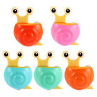 Home Plastic Snail Shape Suction Cup Toothbrush Toothpaste Holder 2pcs