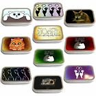 Cat Art Slim Hinged 1oz Tin Tobacco Storage Choose Your Design