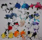 2pcs Corsage Boutonniere Set Carnations Many Color Choices Pick Wrist or Pin On