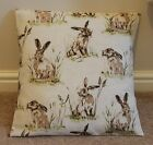 NEW HARES CUSHION COVER - COUNTRY STYLE - LINEN FINISH - VARIOUS SIZES AVAILABLE