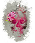 t-shirt donna tatoo pink skull teschio messicano maglietta