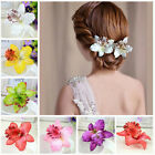 Bridal Wedding Orchid Flower Hair Clip Barrette Women Girls Accessories Gift