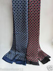Fashion Men's100%Pure Mulberry silk Double sided  long scarf/black with red/blue