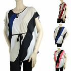 Women Tilt Striped Wide Side Trim Blouse Stretchy Work,Trip's Casual Shirts Plus