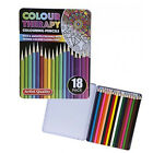18PC COLOUR THERAPY PENCILS IN TIN CASE ART QUALITY ARTIST DRAWING COLOURING