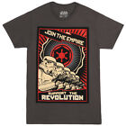 Star Wars Join The Empire Propaganda Poster Licensed Adult T-Shirt - Grn/Blk/Gry