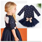 New Girls Elegant Princess Party Top with angle wing+ fluffy skirt outfit 1-5yrs