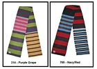 CANTERBURY CCC STRIPED UGLIES SCARF - GRAPE or NAVY - E21736 ONE SIZE-ADULTS