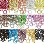 Lot of 40 Big 12mm 12 Gauge Colored Aluminum Open Round Jumprings Jump Rings