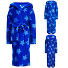 Childs Nightwear New Blue Star Print Dressing Gown Or All In One Loungewear