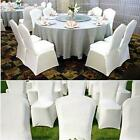 100pcs Black/White Polyester Spandex Chair Arched/Flat Front Covers Wedding Deco