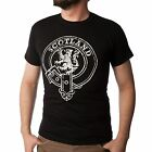 Gents Mens T-Shirt Scotland Buckle and Strap Lion Black Size Small to XXL