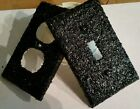 black switch plates - BLACK GLITTER LIGHT SWITCH PLATE COVER- MULTI OUTLETS