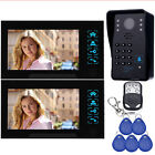 "7"" Color Video Door Phone Doorbell Intercom Access Control System+Remote Control"
